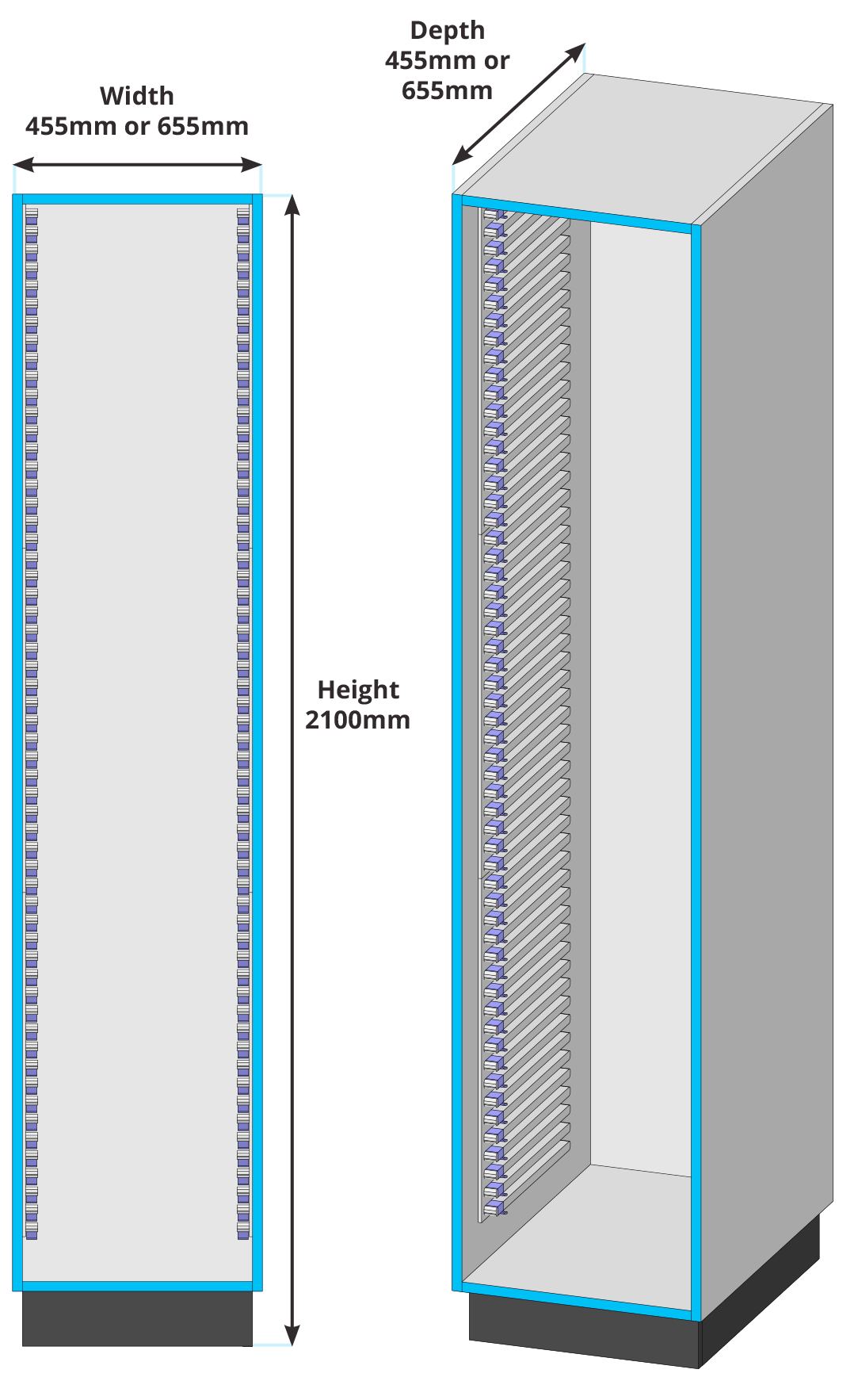 HTM71 Full Height Unit Drawing