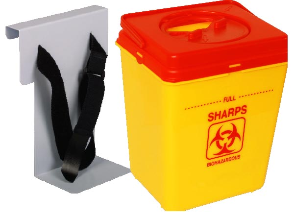 Gratnells Trolley Sharps box and holder