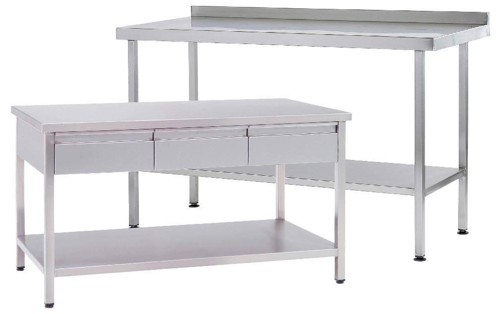 Stainless Steel Preparation Tables